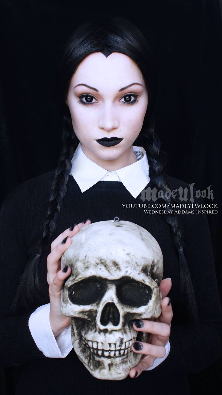Halloween: MadeULook by Lex -- Wednesday Addams from the Addams family :D