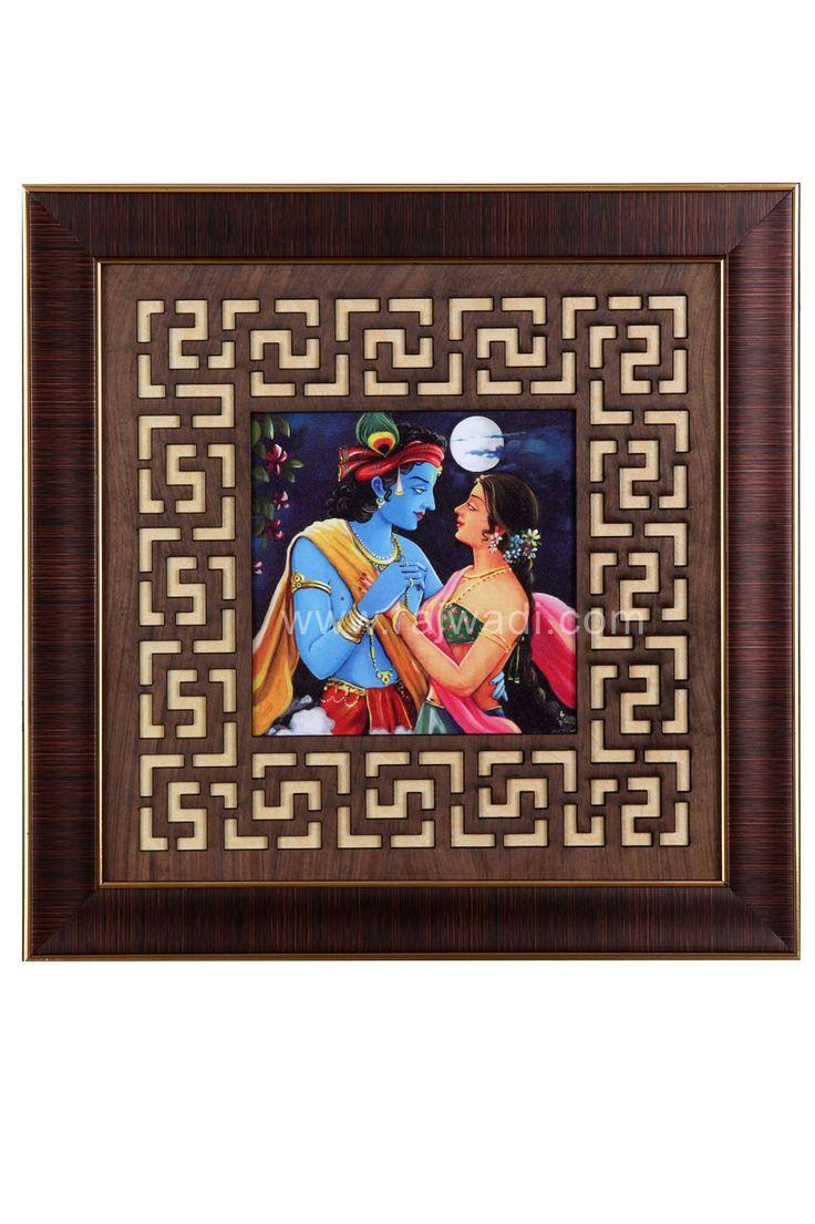 Shree Radha Krishna Multicoloured Wall Painting
