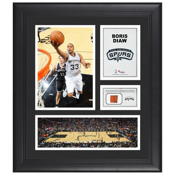"Boris Diaw San Antonio Spurs Fanatics Authentic Framed 15"" x 17"" Collage with Team-Used Ball - $79.99"