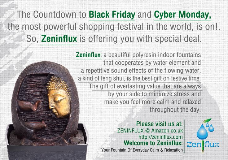 Please visit us at : ZENINFLUX @ Amazon.co.uk: www.zeninflux.com Welcome to Zeninflux : Your Fountain Of Everyday Calm & Relaxation