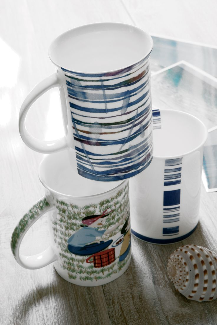 Blu stripes mugs