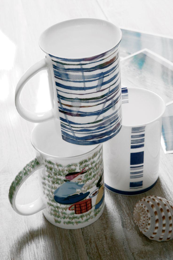 Blu stripes mugs