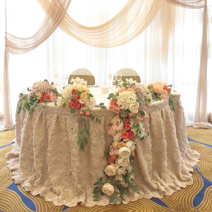 Стол жениха и невесты на свадьбе Насти и Джастина ;)