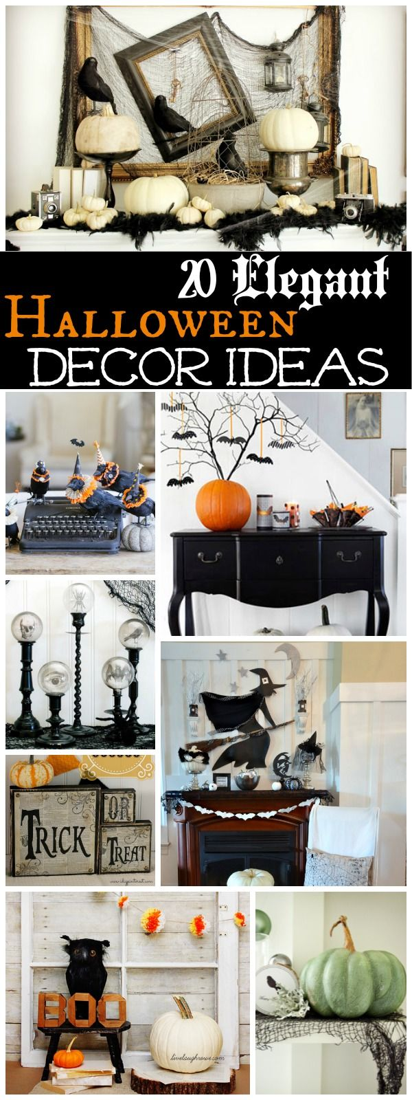 Elegant Halloween Decor Ideas at The Happy Housie