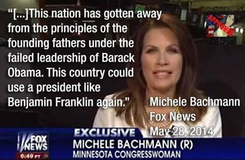 Did Michele Bachmann say 'this country could use a president like Benjamin…
