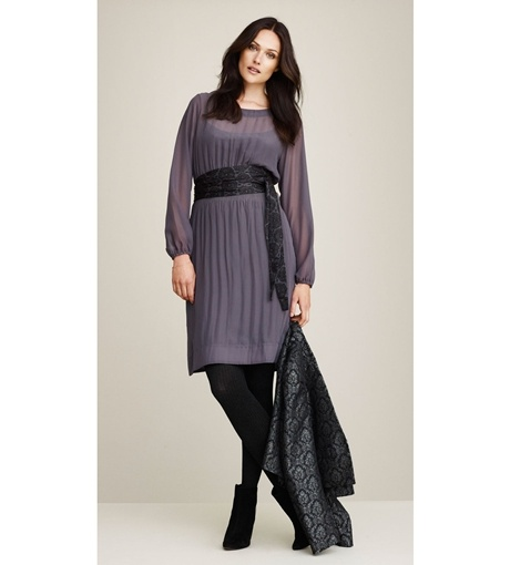 Need a party dress? Enjoy the sheer elegance of this fabulous crêpe dress from Jackpot, made of 100% Recycled Polyester.