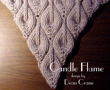 CANDLE FLAME SHAWL- on wayback machine ... could see the flames as a boarder