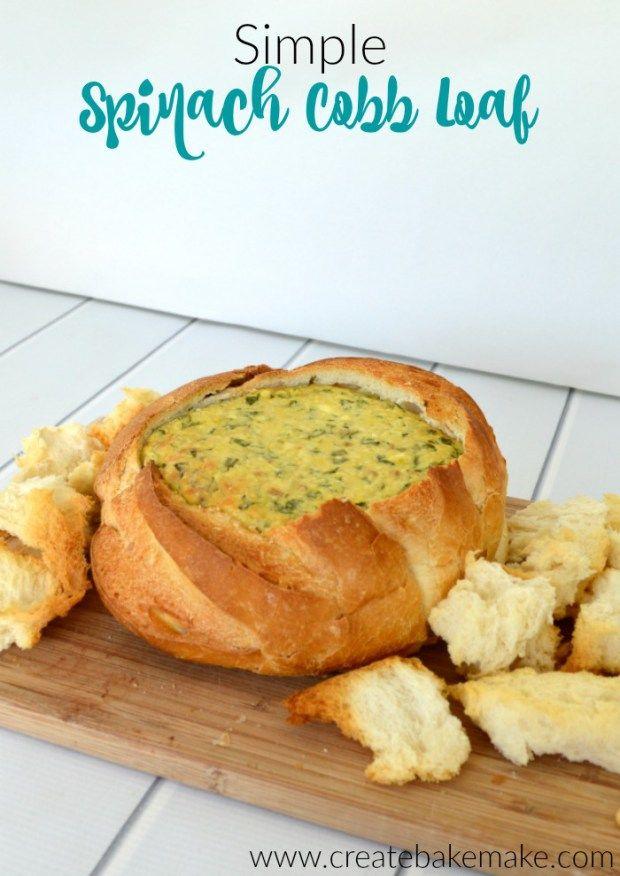 Simple Spinach Cobb Loaf Recipe - Create Bake Make