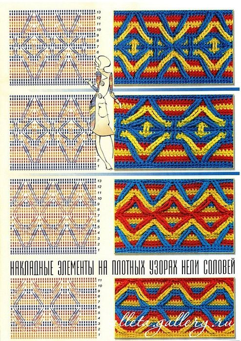 Lots of amazing stitches (with charts) on this Russian site.