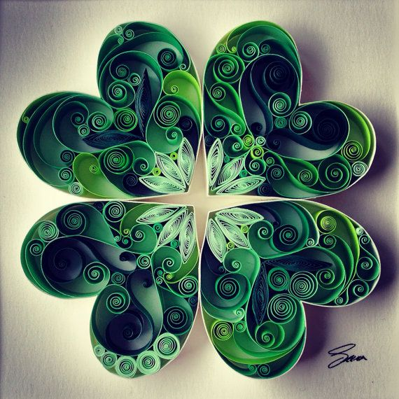 Quilled Paper Art: May Good Luck Be With You por SenaRuna en Etsy