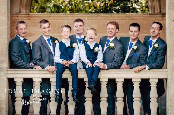 Tylney Hall Wedding Photographer: Page Boys / Ushers / groom ready for the big event.
