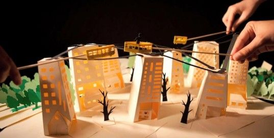 Kids Envision and Design Green Cities with pop up book