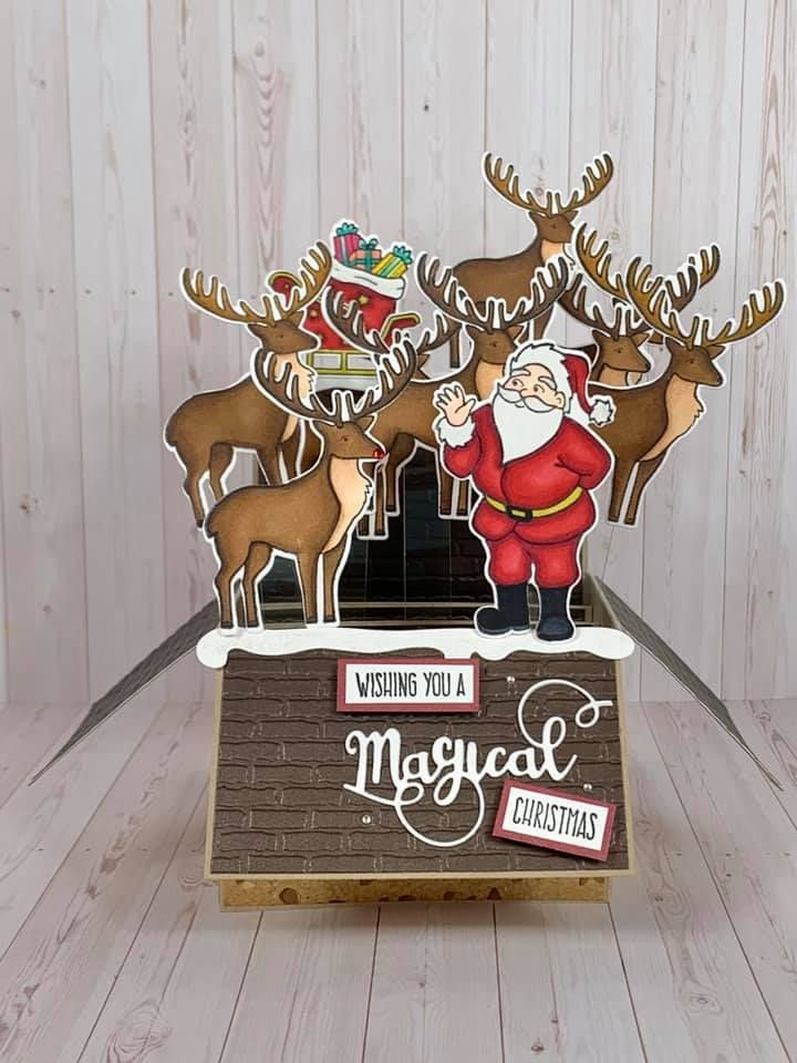 Christmas pop up box stamp die sets by crafters