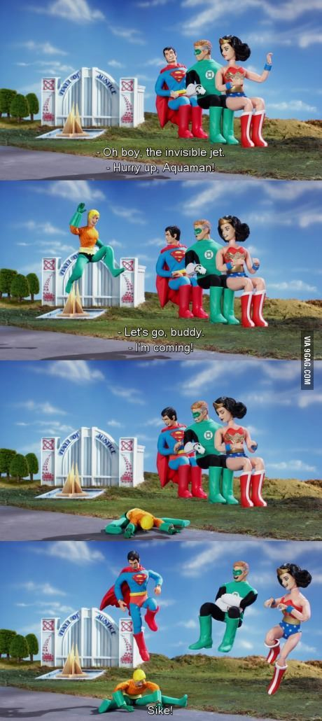 Aquaman and the Invisible Jet - 9GAG