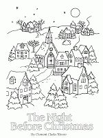 Twas the night before Christmas : coloring pages