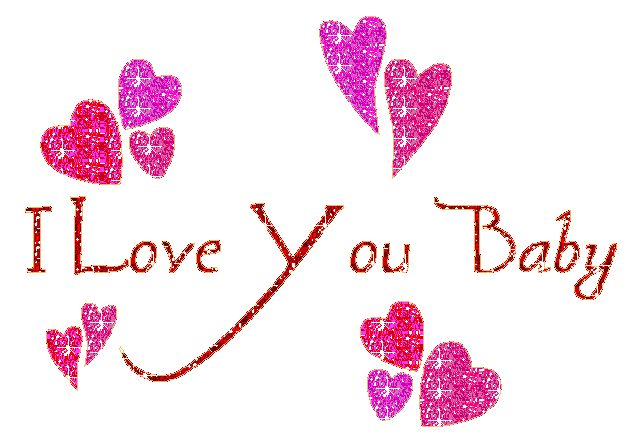 I Love You baby Glitter Graphic for Fb Share