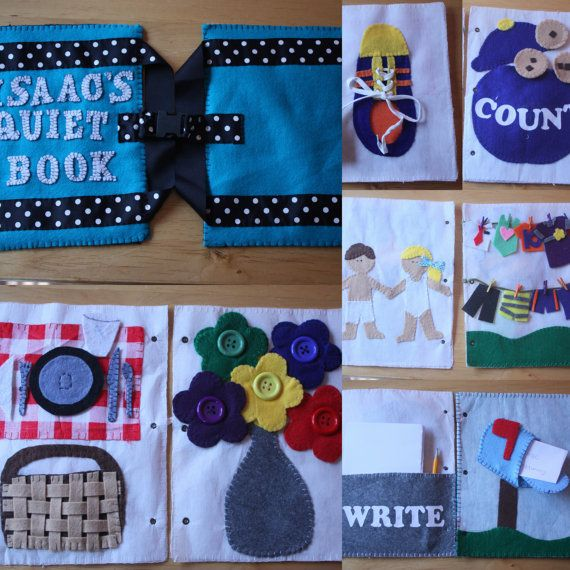 Quiet Book Pattern by mjallday on Etsy, $15.00
