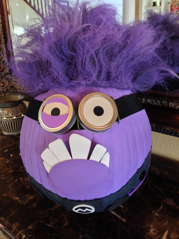 evil minion no carve pumpkin - Halloween Pumpkin Designs Without Carving