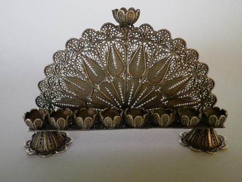 Another Russian Menorah, silver, from 1879