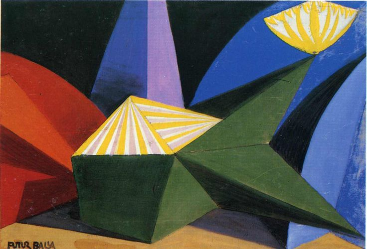 Giacomo Balla, 1915 Sketch for the ballet by Igor Stravinsky: Fireworks  WikiPaintings.org - the encyclopedia of painting