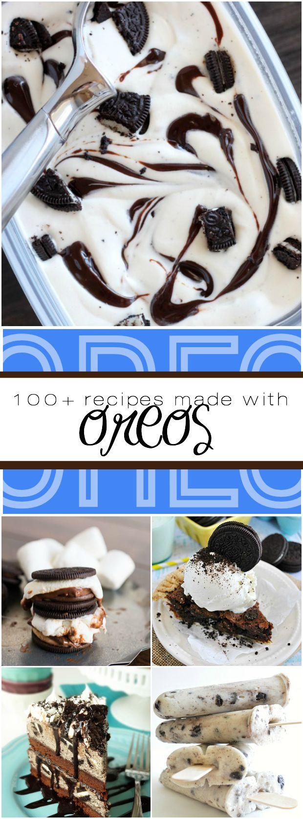 100+ recipes using Oreos!