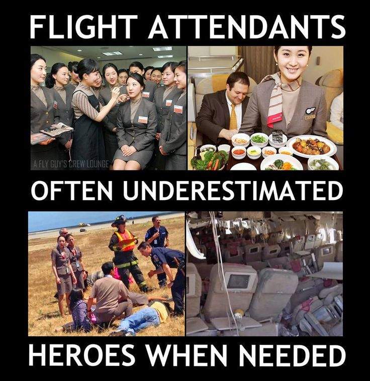 People forget.  Flight attendants are there in case of an emergency.  They just make you comfortable the other 99.9% of the time.