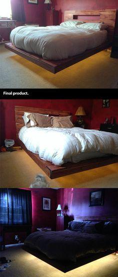 Best 25 cool bed frames ideas on pinterest montessori style kids bedroom toddler bed frame - Cool diy bed frames ...