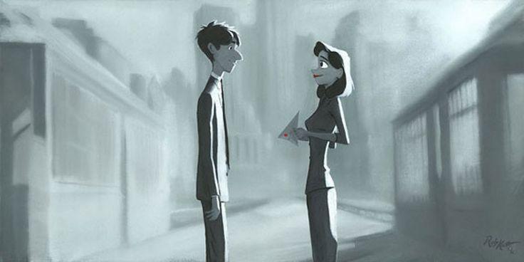 Paperman - And Then I Found You - Rob Kaz - World-Wide-Art.com - #disneyfineart #robkaz #paperman #pixar