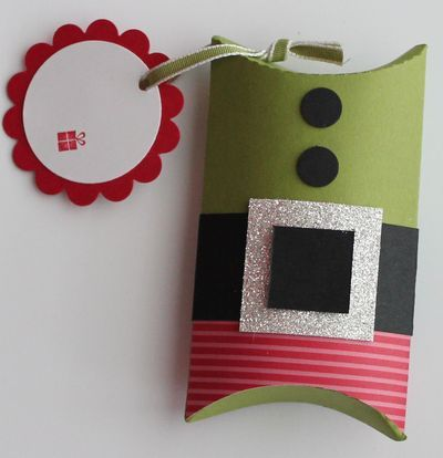 Stampin' Up! Pillow Box Elf Heather Summers Christmas