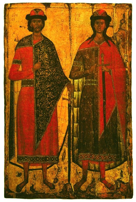 Начало XIV в.  Борис и Глеб