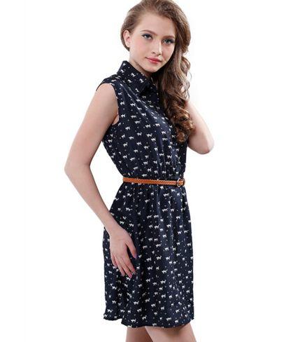 2016 Summer Dress with Belt - Dress #163