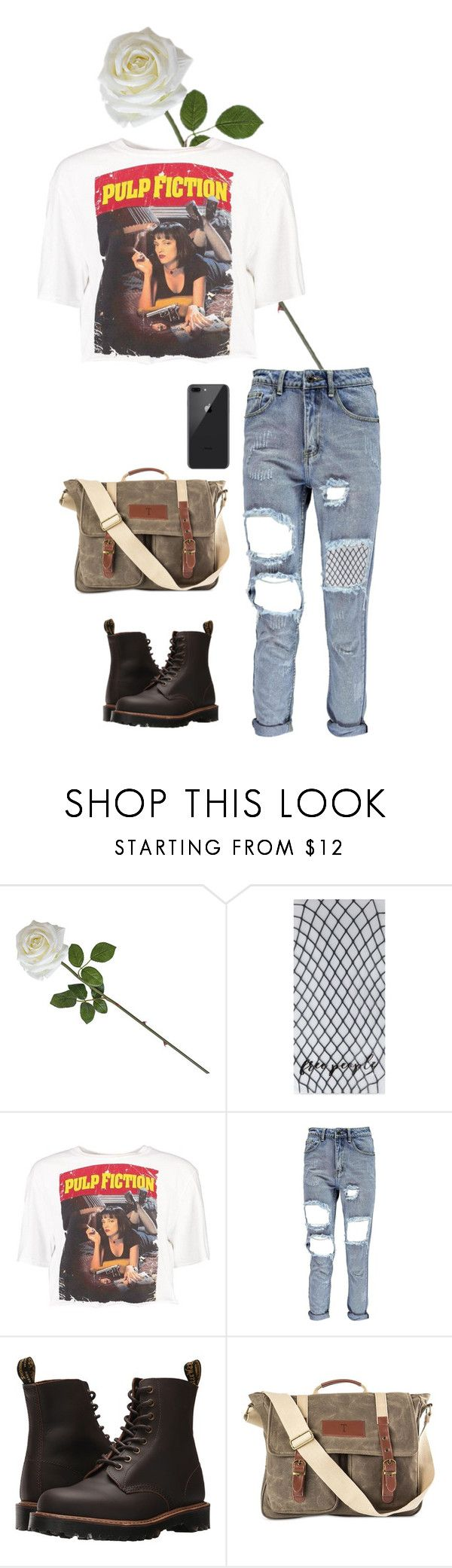 """Pulp Fiction"" by burnttoasts on Polyvore featuring Free People, Boohoo, Dr. Martens and Cathy's Concepts"