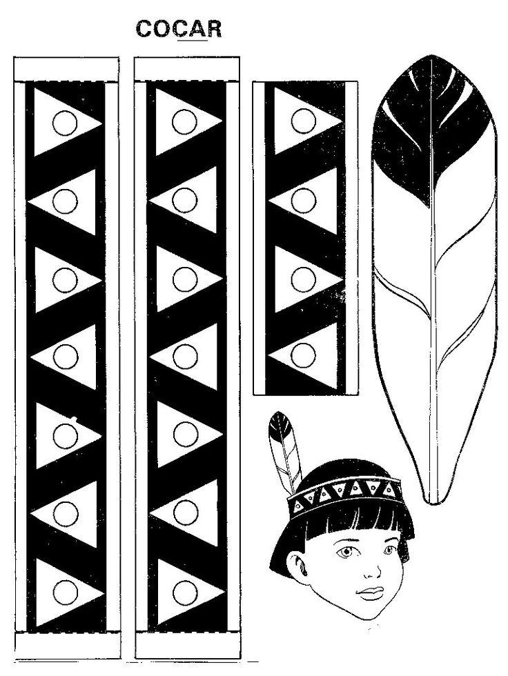 moldes-de-cocar-para-o-dia-do-índio-1.jpg (768×1023)