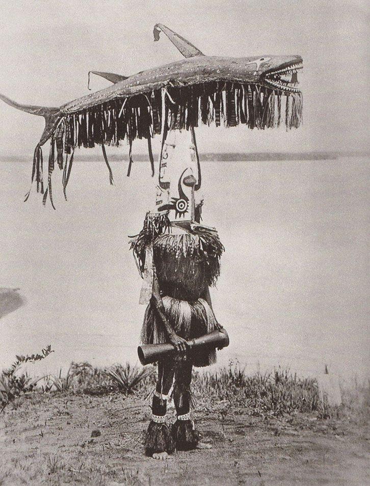 f. e. williams: a masked dancer (elema people of papua new guinea), 1938