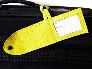 Tuto pour une étiquette de bagage