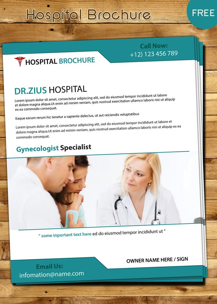 30 best brochure Design images on Pinterest Brochure design - hospital flyer template