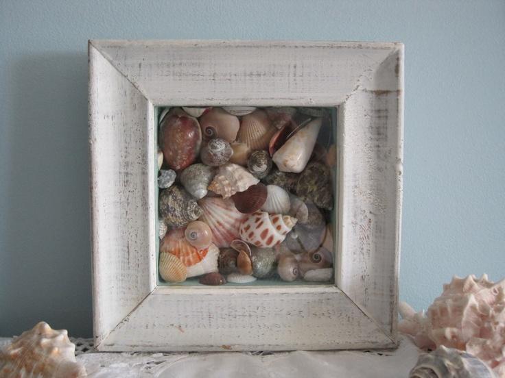 Beach Cottage Sea Shell Shadow Box
