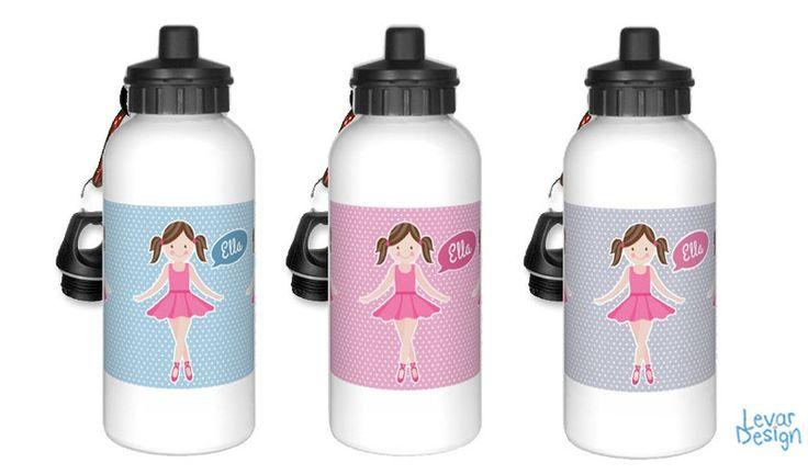 Trinkflaschen - Trinkflasche für Kinder - Ballett - ein Designerstück von LEVARDESIGN bei DaWanda