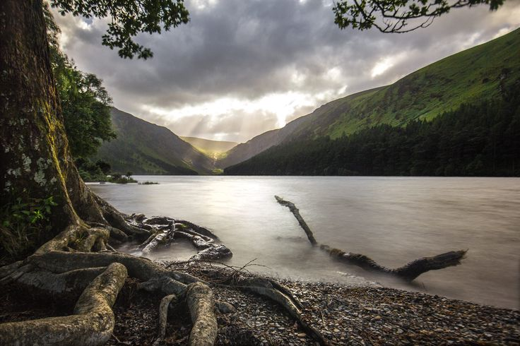 Shot this evening in Glendalough, in the Wicklow mountains in Ireland. The water is a long exposure and the sky and distant hills was a quicker exposure. Shot on Canon 60D with Sigma 10-20mm