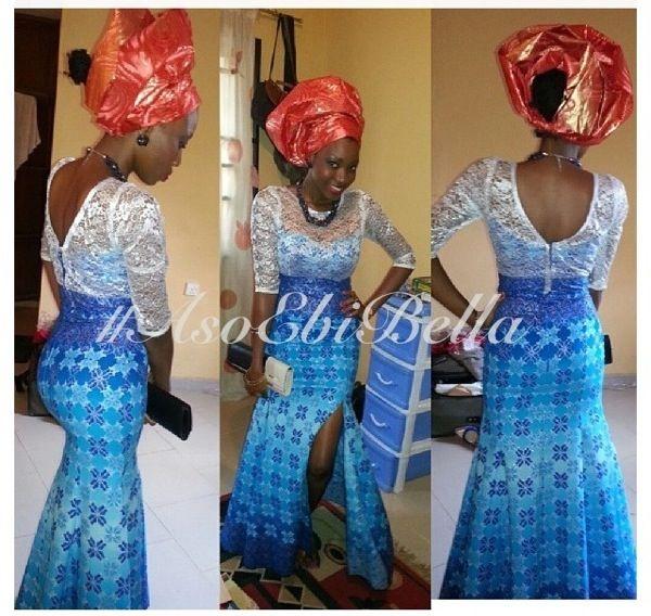 Ankara Lace Aso Ebi Nigerian Naija Wedding Bellanaija Gele Ichafu Igbo Yoruba Naija Fashion