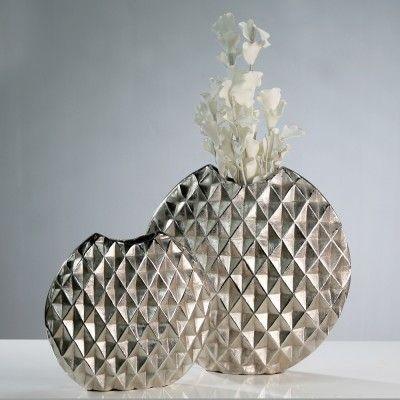 Váza FUSO S - strieborná