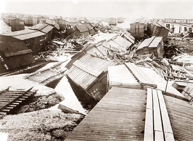 Hurricane Damage in Galveston, Texas in 1900.