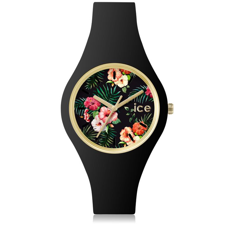 Montre Ice-Watch ICE flower - noire - Moyenne