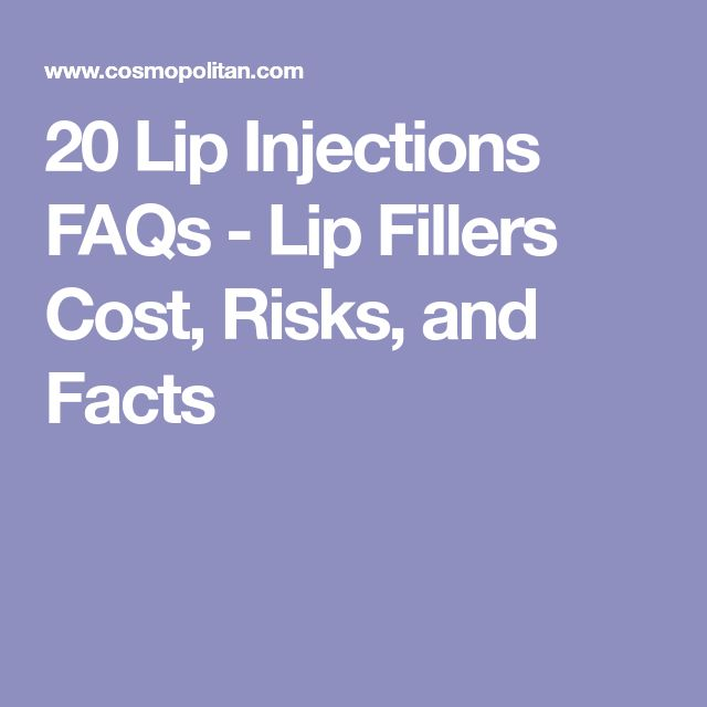 20 Lip Injections FAQs - Lip Fillers Cost, Risks, and Facts