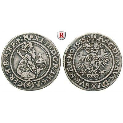 Römisch Deutsches Reich, Maximilian II., 10 Kreuzer 1565, ss: Maximilian II. 1564-1576. 10 Kreuzer 26 mm 1565… #coins #numismatics