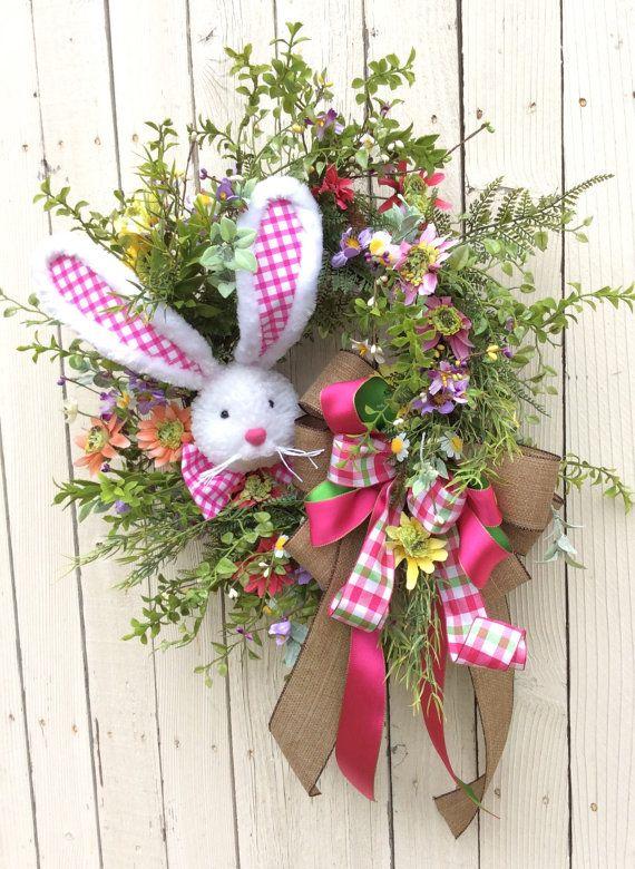 Easter Bunny Wreath Spring By Keleas