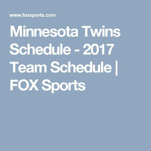 Minnesota Twins Schedule - 2017 Team Schedule | FOX Sports