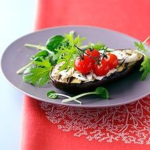 Gegrilde aubergine met feta en tomaat Recept | Weight Watchers België