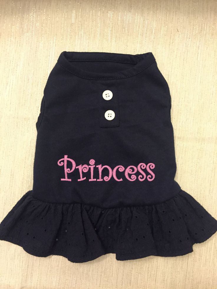 Dog Dress/Outfit + Cutie + Monogrammed + Princess + Birth Announcement + Embroidered + Valentine's by SweetSouthernMarket on Etsy