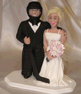Ha... this is what our cake topper would look like if he had his way :)